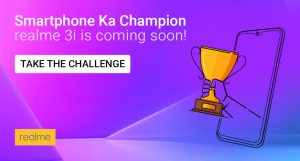 Realme 3i to go on Sale; Flipkart and Realme Website to be the Host