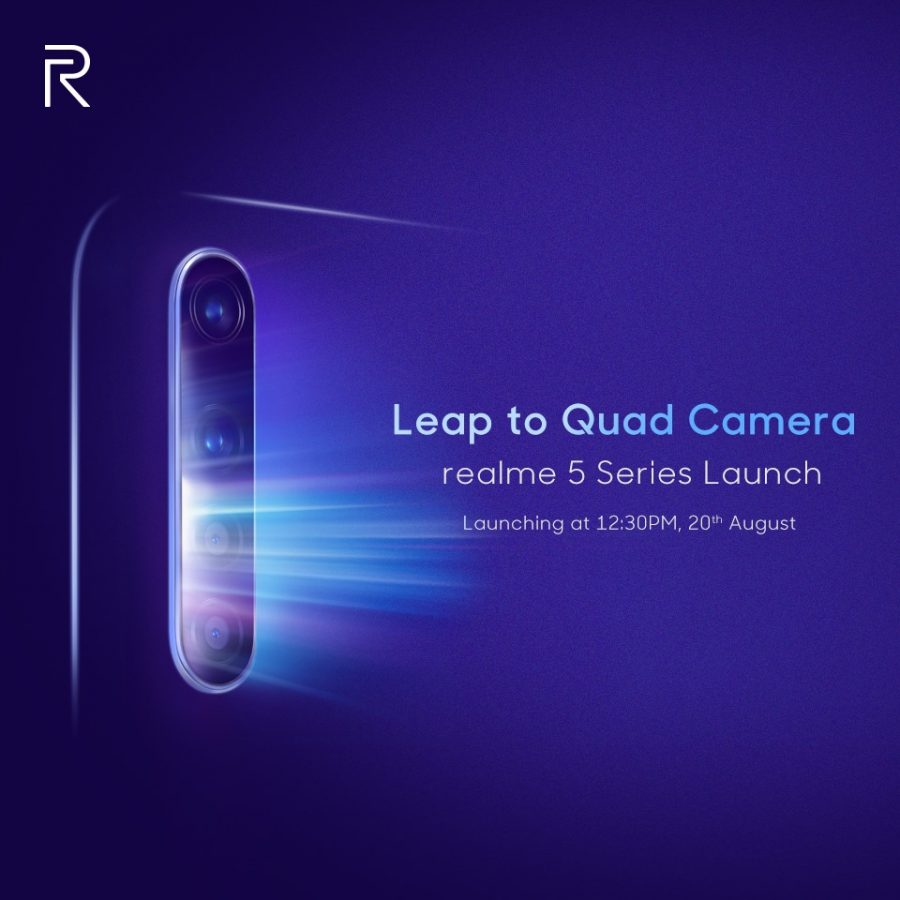 Realme 5 All Set to Launch in India by August 20
