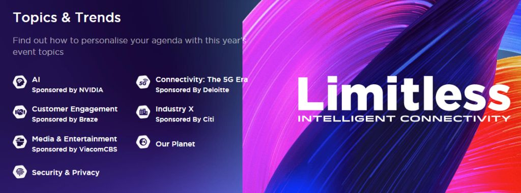 MWC 2020 Limitless Intelligent Connectivity