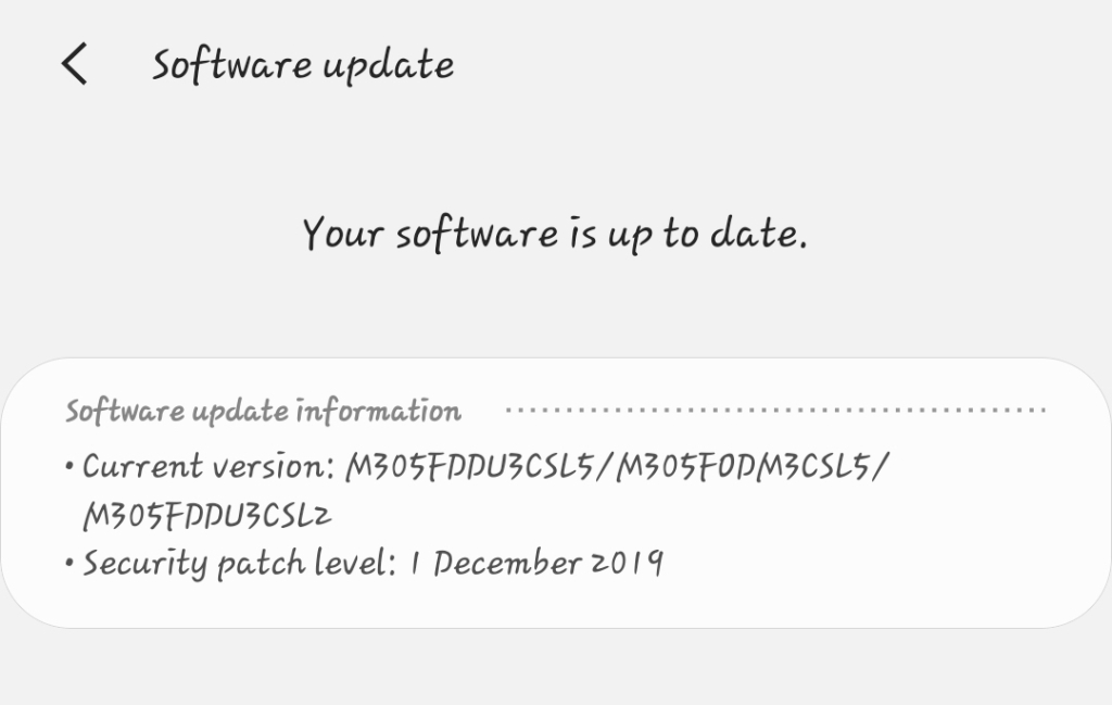 Update Operating System